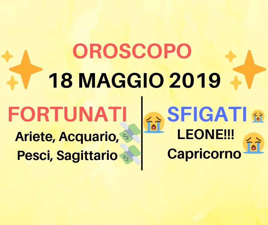 Oroscopo 18 maggio 2019: la tua giornata all'insegna delle stelle
