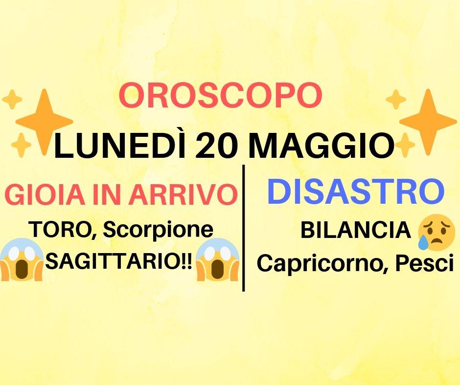 Oroscopo 20 Maggio 2019: si ricomincia con il BOTTO per molti segni