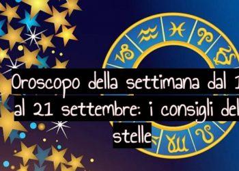 Oroscopo della settimana dal 15 al 21 settembre: i consigli delle stelle