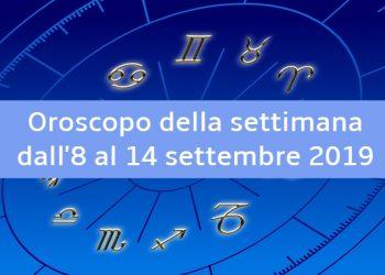 Oroscopo della settimana dall'8 al 14 settembre 2019: il parere delle stelle