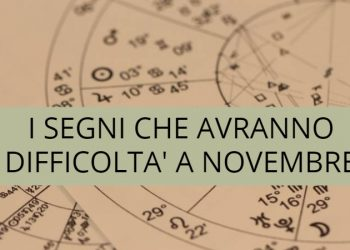 A novembre questi 4 segni zodiacali incontreranno delle difficoltà
