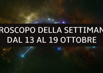 Oroscopo della settimana dal 13 al 19 ottobre: le previsioni delle stelle