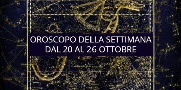 Oroscopo della settimana dal 20 al 26 ottobre: le previsioni delle stelle