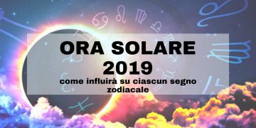 Ora solare 2019 e segni zodiacali