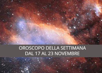Oroscopo della settimana dal 17 al 23 novembre