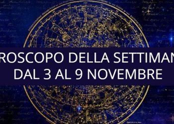 Oroscopo della settimana dal 3 al 9 novembre