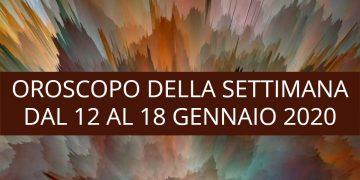 Oroscopo della settimana dal 12 al 18 gennaio 2020