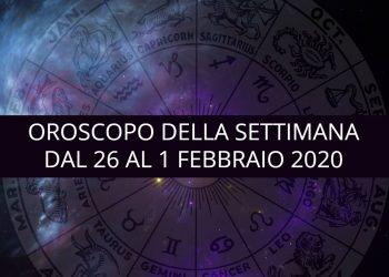 Oroscopo della settimana dal 26 gennaio al 1 febbraio 2020