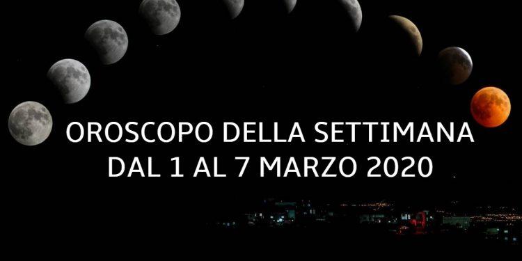 Oroscopo della settimana dal 1 al 7 marzo 2020