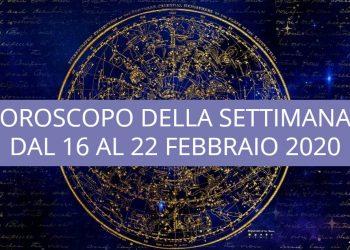 Oroscopo della settimana dal 16 al 22 febbraio 2020